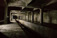 View of one of Cincinnatti Subway's abandoned stations