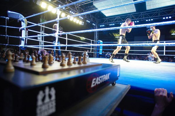 Chess boxing match