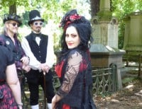 Goths at kensal Green Cemetry open day